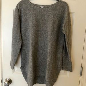 Halogen gray cashmere pullover sweater